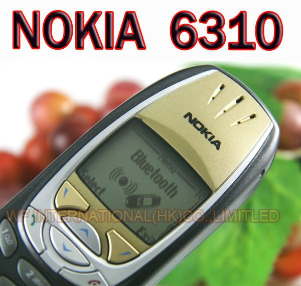 NOKIA 6310 Mobile Cell Phone Original GSM Dual Band Unlocked 6310 Black Gift One year warranty