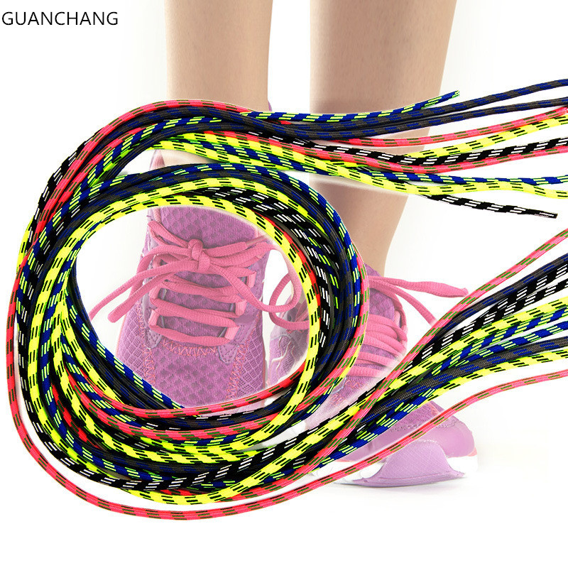 купить Round Shoe Laces Sport Shoelaces Multi Color Men Shoelace Strings Cordones Zapatos Shoestrings Cords Ropes for Martiin Boots по цене 153.67 рублей