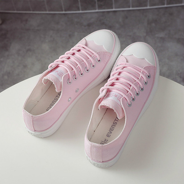 e25ee9fda365 Zapatillas-Lona-Mujer-Women-Shoes-Autumn-Summer-Canvas-Casual-Shoes -Solid-Color-Female-Pink-Sneakers-Lace.jpg_640x640.jpg