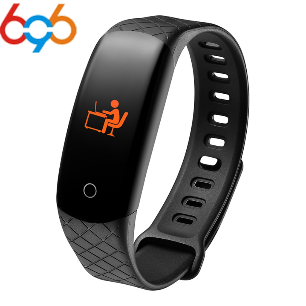 696 CB608 Smart Men Fitness Bracelet Watch Wristband Bracelet Continuous Heart Rate Monitor Health Fitness Tracker Smart Band