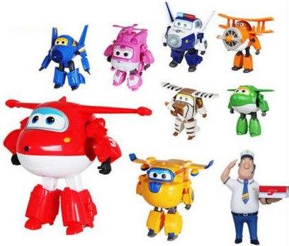 15 cm Super Flügel Große größe Flugzeuge Transformation roboter Action-figuren Spielzeug super flügel Mini Jett spielzeug Für Weihnachten geschenk -50