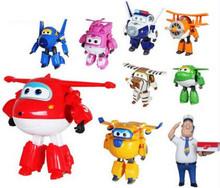 15CM Super Wings duży rozmiar płaszczyzny transformacja Robot dane liczbowe zabawki Super skrzydło mini Jett zabawka na Boże Narodzenie prezent-50 tanie tanio 12-15 lat 5-7 lat 2-4 lat 3 lat 8-11 lat Wyprodukowane w Chinach 12 cm Robots Puppets Modelu Lamkofor do 15 cm Finished Goods