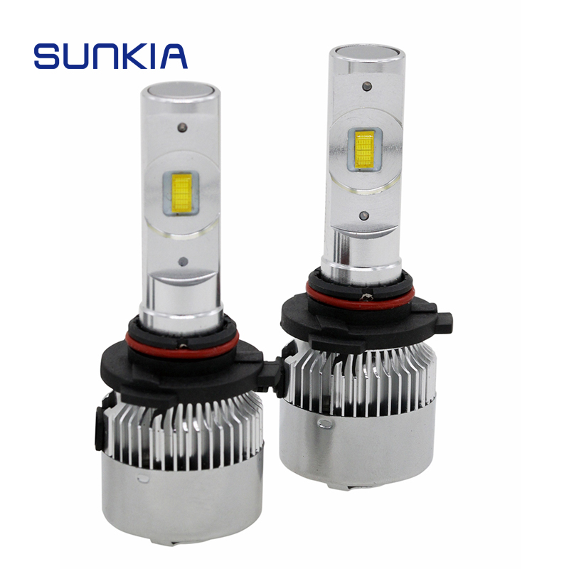 SUNKIA Car Headlight LED Bulb 9005/HB3 9006/HB4 Auto Lamp High Lumen 40W 6500K Fog Light 12V-24V Built-in Fan Cooling
