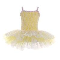 Clearance Sale Lace Camisole Ballet Tutu Dress For Girls Sequin Neckline Dance Costume Nylon Spandex Dancewear