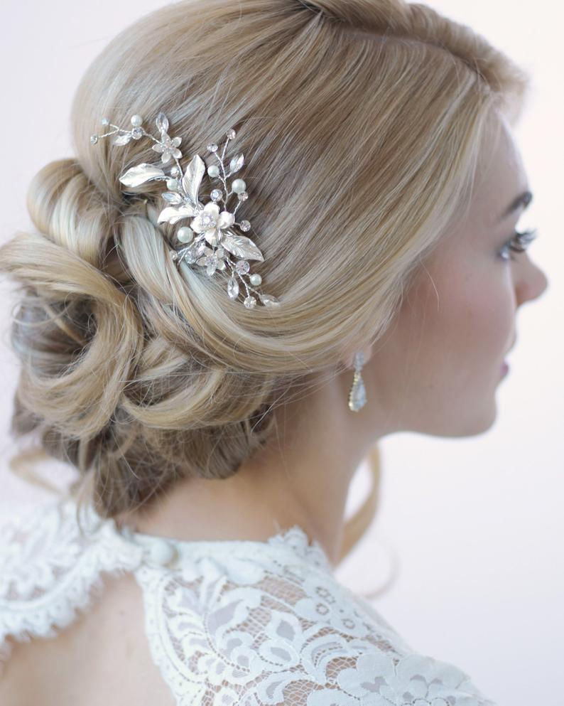 Accessories Bridal Hair Comb Pearl Hairclip Bridesmaid Headdress Flower Hairpin