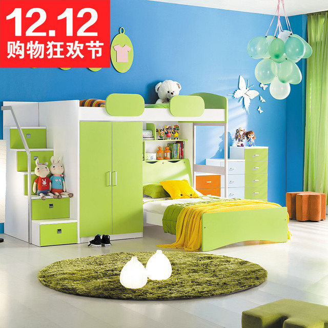 Multifunctional Bed Bunk Bed Children S Bed With Wardrobe Desk