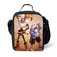 2017 Sans and Papyrus Lunch Bag Thermal Cooler Personalized Insulated Lunch Bag For Kids Bags Cartoon Bags Teenager Girls