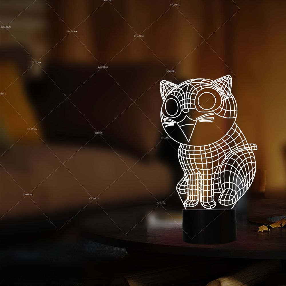PET Addiction smile cat design illusion LED nightlight 7 changing colors LED lamp as pet christmas gifts все цены