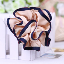 JZJR Korea Solid Hair Scrunchies for Women Ring Elastic Bands Pure Color Headband Satin Soft Charming Scrunchie Hairband