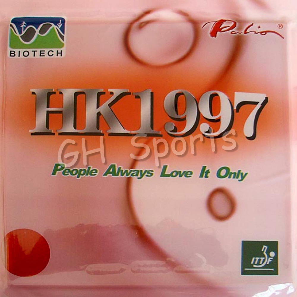 Palio HK1997 GOLD Sticky and HK1997 Biotech Pips in Table Tennis Rubber palio hk1997 gold sticky and hk1997 biotech pips in table tennis rubber