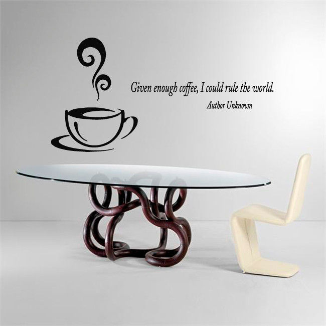 2016 vinilos paredes wall decal quote coffee vinyl sticker for Vinilos pared aliexpress
