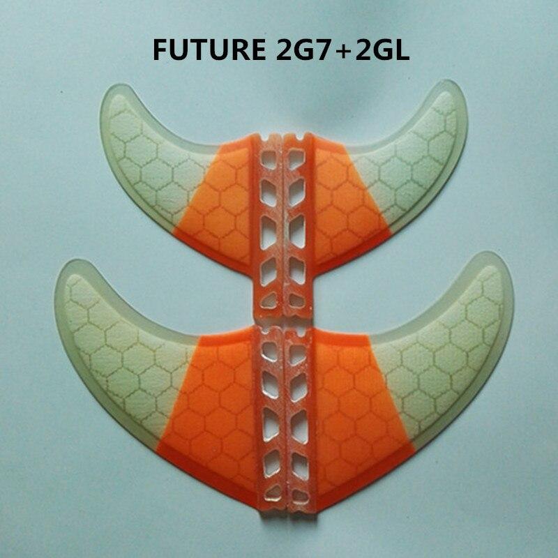 Srfda Haute qualité planche de surf FUTURE FCS II palmes taille 2pcsG7 + 2 pièces GL quad ailerons avec fibre de verre miel peigne matériel