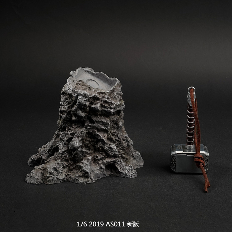 1 6 scene background model AS011 1 6 Scale Figure Scene Accessories The Avengers Raytheon Thor Hammer Platform in Action Toy Figures from Toys Hobbies