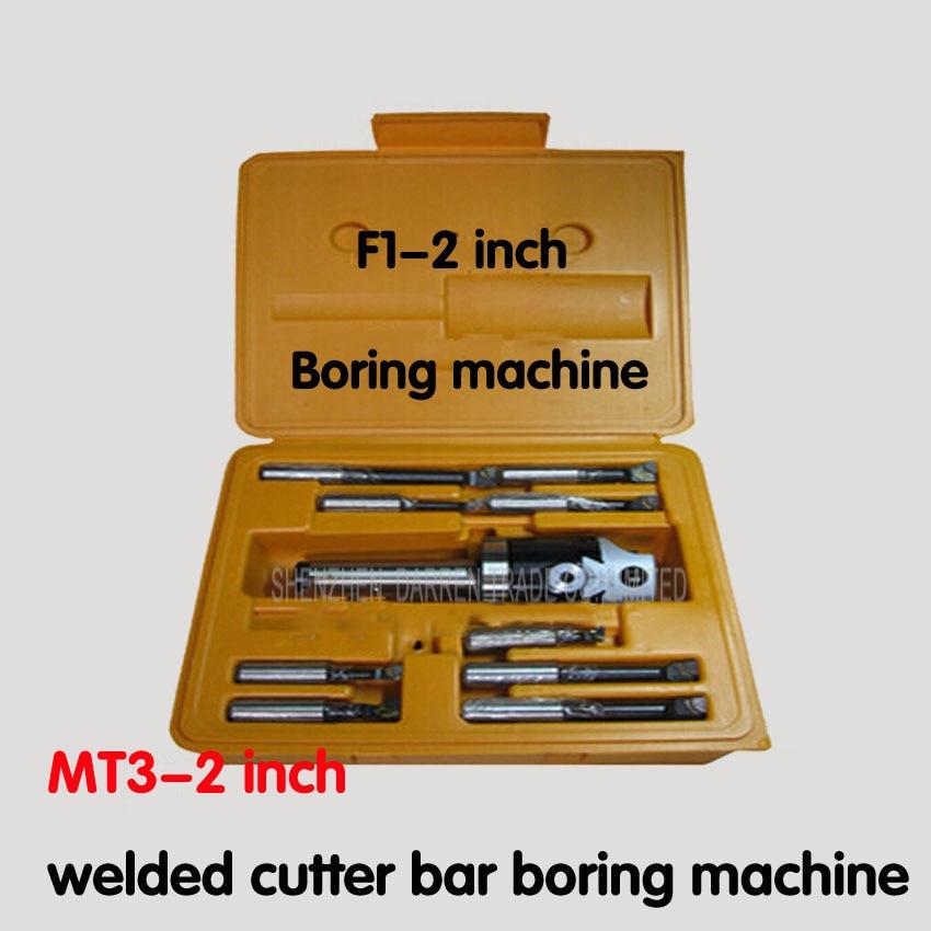 1 PC  F1- 2 inch  boring head with MT3 Boring shank and 9pcs 12mm boring bars, boring head set kit of boring head 50mm 9pcs f1 12 mt3 1set