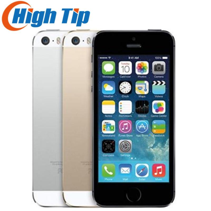 Оригинальный разблокированный APPLE iPhone, 16 ГБ/32 ГБ/64 Гб ПЗУ, 8 Мп, Touch ID, iCloud, приложение Store, Wi-Fi, GPS, 4,0 дюйма, сканер отпечатка пальца, IOS, Заводская ...