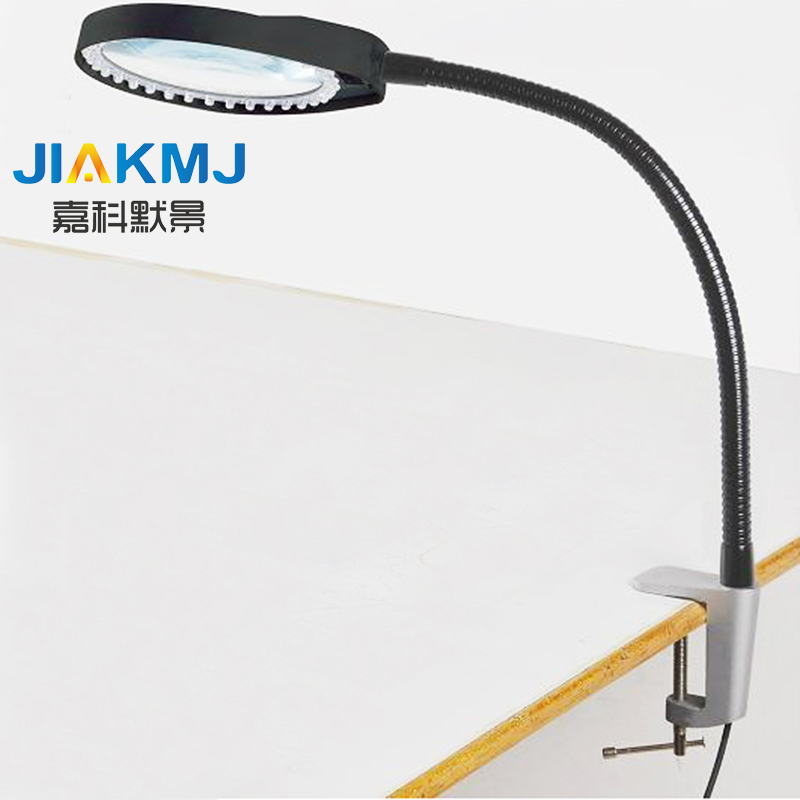 Free Shipping Desktop Reading Magnifier 8X Flexible Rod Dimming Repair Magnifier Table Lamp Working Magnifier LED Light Magnifie fdj high clear handheld reading 8x magnifier black transparent