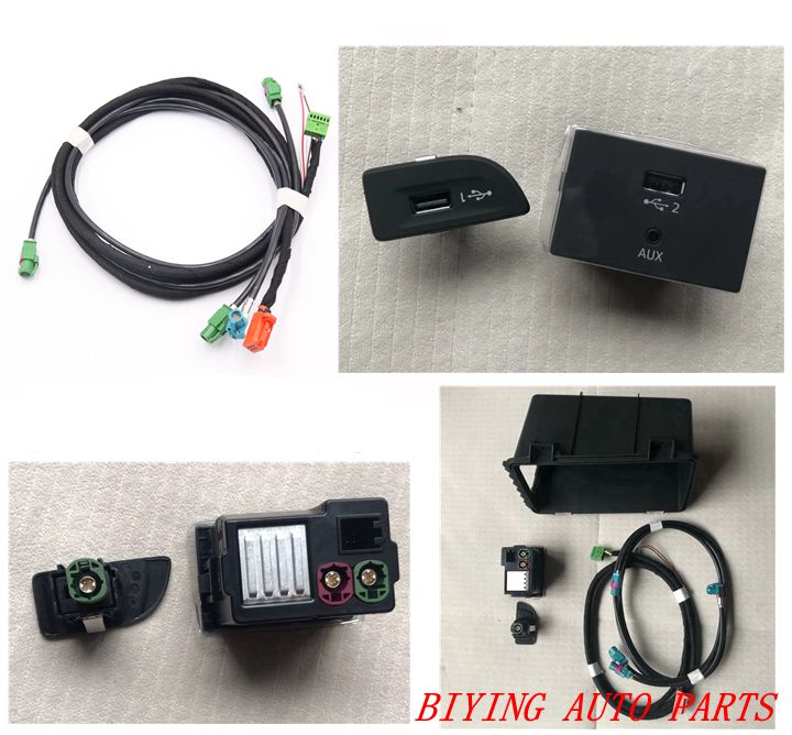 POUR Audi A3 8 V MIB 2 CarPlay MDI USB AMI Installer Plug Socket Commutateur Bouton Harnais