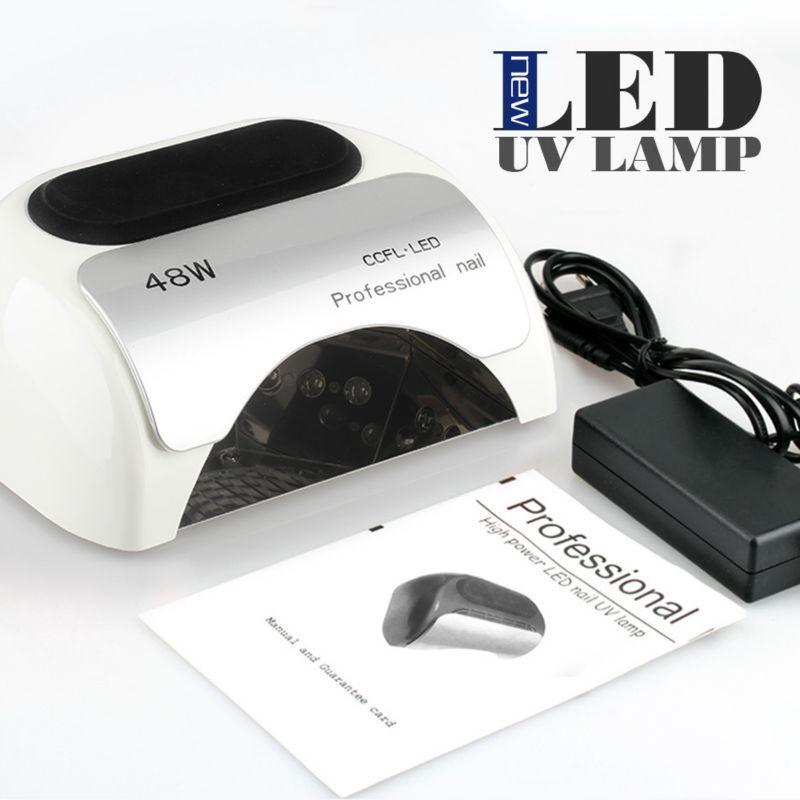 Professional Nail Care Equipment 48w CCFL + LED Lamp White Color Nail Art LED Gel Lamp Nail Light LED Nail Polish Dryer цена 2017