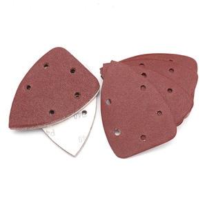 Image 5 - 10pcs 140x90mm Self adhesive Sandpaper Triangle Sander Grit 40 400 Sand Paper Sanding Disc Abrasive Tools For Polishing Wood
