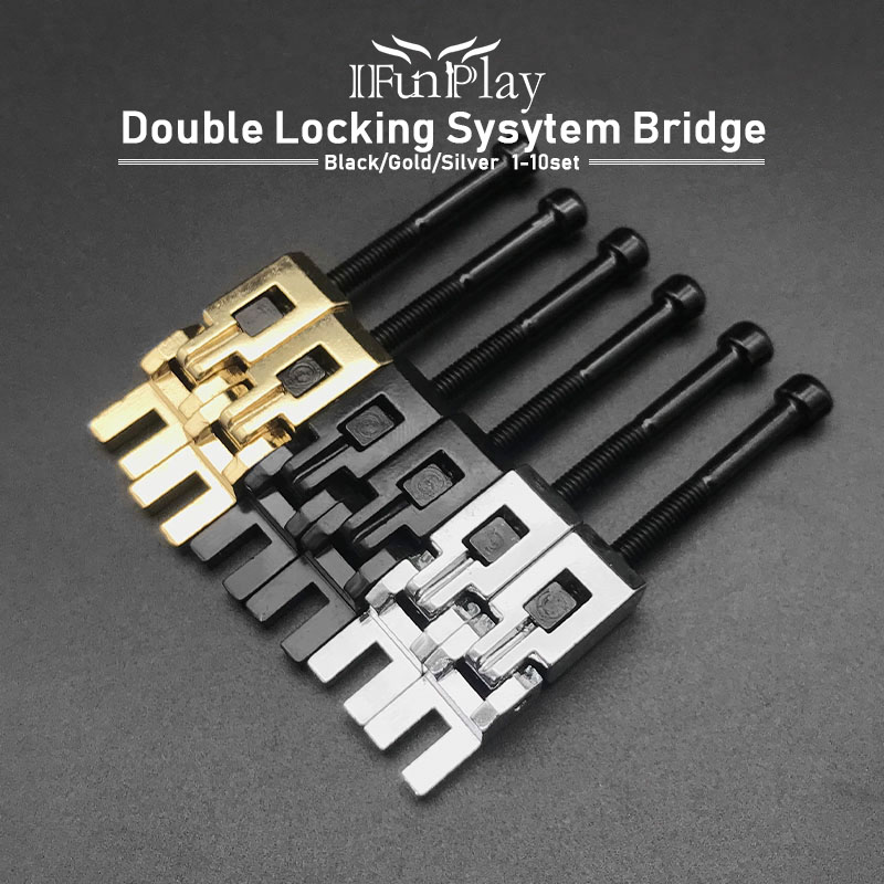 Free Shipping 6Pcs Electric Guitar Double Locking System Locked String Saddles Electric Guitar Tremolo Bridge Accessories