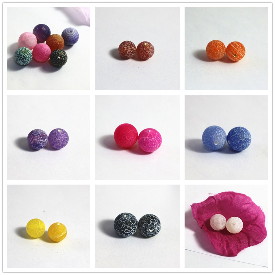Multicolor weathered agate selection 4mm round loose beads making charms jewelry 15 inches A01