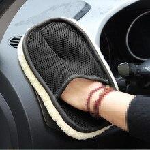1 sztuk samochodów z mikrofibry rękawice do sprzątania dla volkswagen bmw e46 audi a3 fiat 500 mercedes seat ibiza volkswagen polo akcesoria
