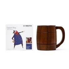 Umweltfreundliche Handcraft DIY Holz Milch Kaffeetasse Jujube Holz Tee tasse Bier Becher Becher w/Griff Wasser Tasse Gute für Gesundheit