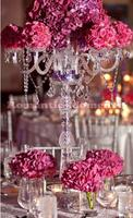 crystal wedding candelabras table centerpiece