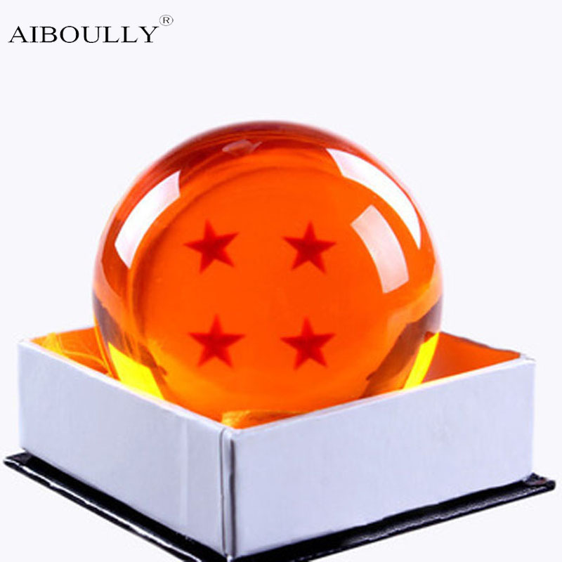 1Pcs 7cm Dragon Ball Z Star Crystal Ball Resin Figure Toys Dragonball Z Crtstal Balls Toy
