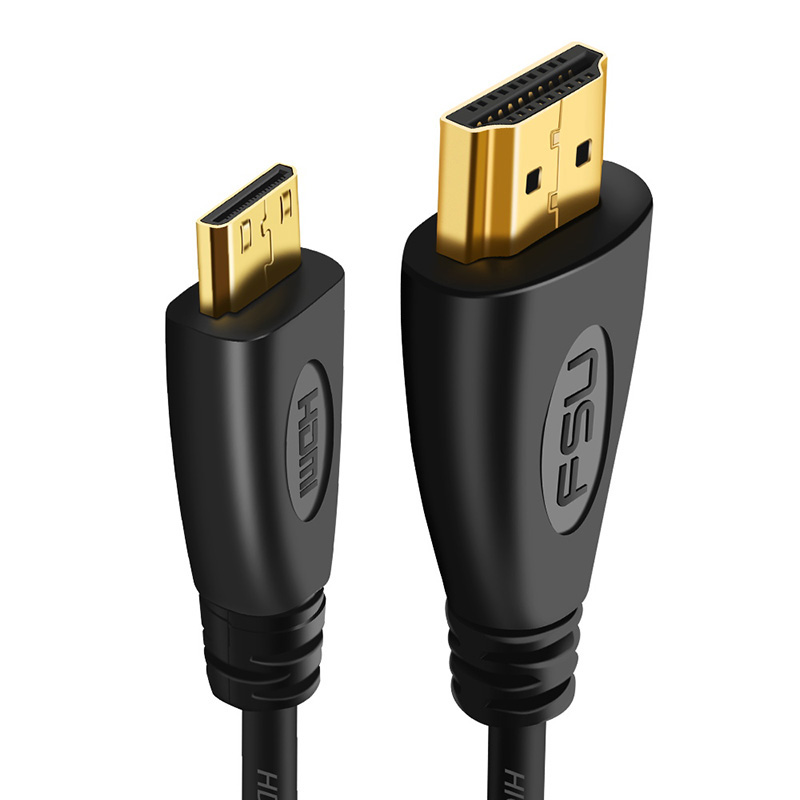 1080P 3D Effect Mini HDMI To HDMI Cable High Speed Adapter With Gold Plated Plug For Camera Monitor Projector Notebook