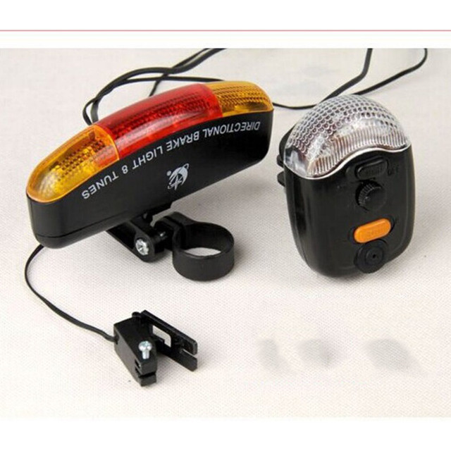 Multifuction Tail Bicycle Tail Light Rear Safety Warnning Lamp Bike Horn