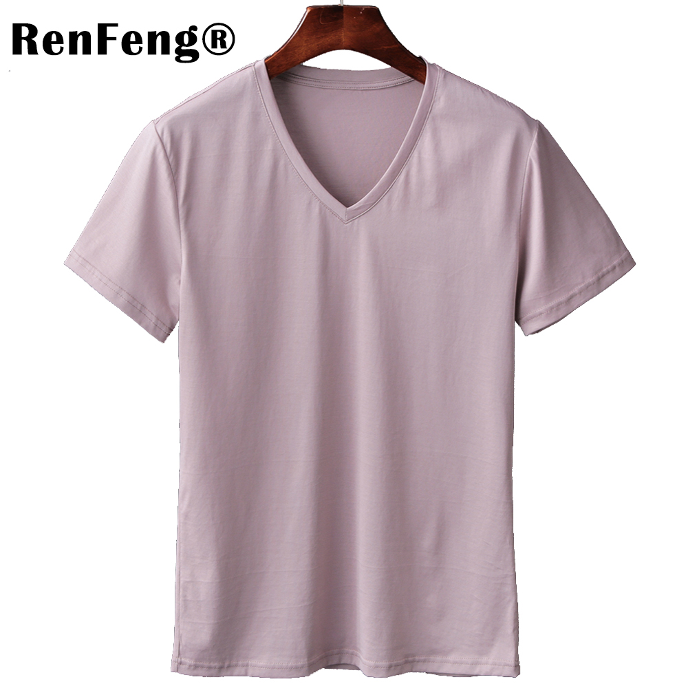 2018 Free Shipping New Summer Pink Gray Black White T shirts Men Short Sleeve Mercerized Cotton T-shirt 4 colors Clothing Brand (1)
