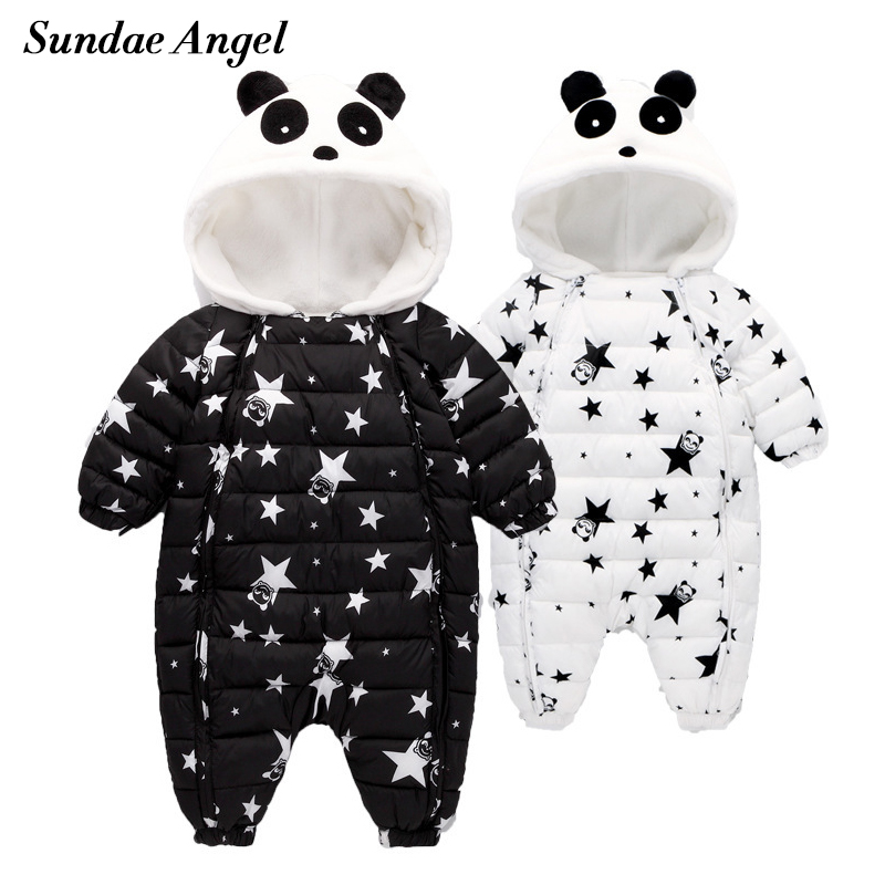 Sundae Angel Baby Boy Romper Winter Hooded Warm Thick Baby Girl Winter Romper Long Sleeve Newborn jumpsuit Autumn Clothes 6M-24M fashion baby boys romper rainbow baby clothes long sleeve cotton warm baby girl romper newborn winter clothes baby boy jumpsuit