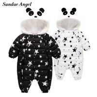 Sundae Angel Baby Boy Romper Winter Hooded Warm Thick Baby Girl Winter Romper Long Sleeve Newborn jumpsuit Autumn Clothes 6M 24M
