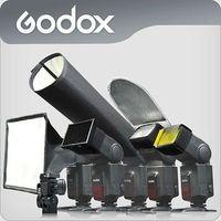 Universale GODOX On-camera 6 in 1 Flash Kit di Accessori Softbox Riflettore speedlite diffusore per Canon Nikon yongnuo flash luce