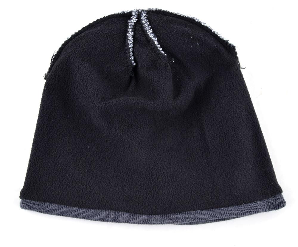 Men's Skullies Hat Bonnet Winter Beanie Knitted Wool Hat Plus Velvet Cap Thicker Stripe Skis Sports Beanies Hats for men 4