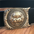 Lion Belt Buckle Genuine Leather Belts For Men Ceinture Homme Male Belt Luxury Cinturones Hombre Cowboy Jeans Strap Wide MBT0459