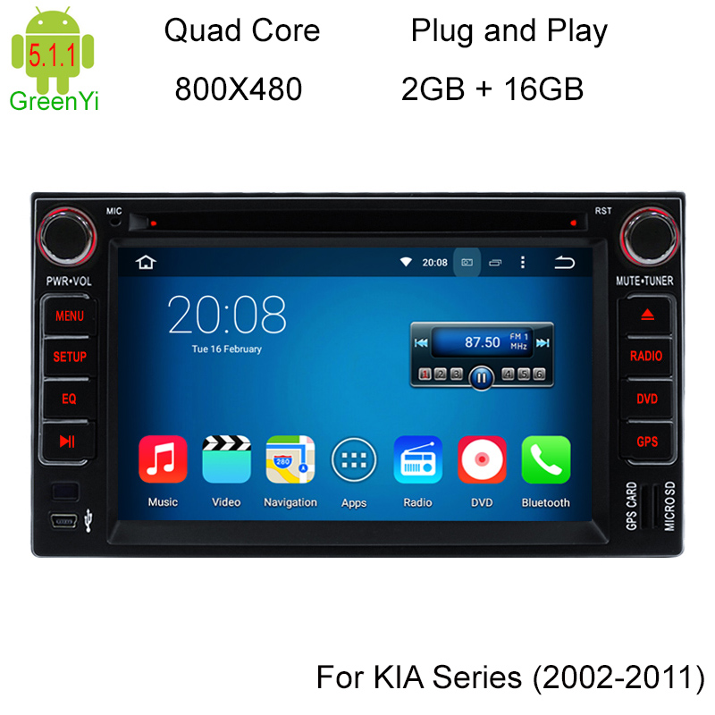 Quad Core font b Android b font 5 1 1 Car DVD Player For Kia Cerato