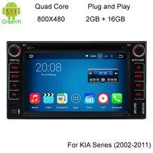 Quad Core Android Coches Reproductor de DVD Para Kia Cerato Spectra Sorento Picanto 5.1.1 Carnaval LOTZE Mañana Navegación GPS Radio Stereo