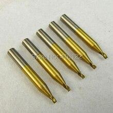 2,5 мм титановый концевой фреза для Вертикальный Станок для нарезки ключей запчасти слесарные инструменты фрезы сверла сталь сверла 5 шт./партия