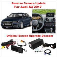Liislee For Audi A3 2017 Original Screen Update / Reversing Track Image + Reverse Parking Camera Digital Decoder Adapter