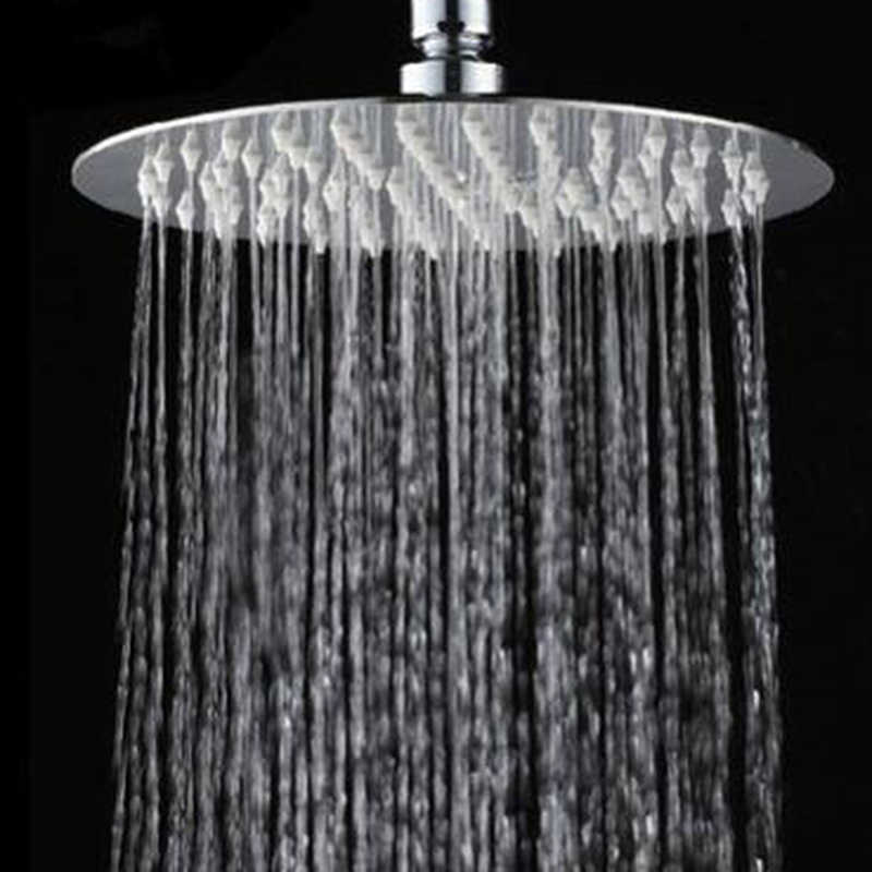10/8/6 Inch Stainless Steel Ultra-thin Waterfall Shower Heads Rainfall Shower Head Rain Square Round