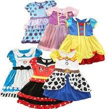 d7a531ac87161 2018 Hot fille vêtements enfants fête robe Minnie blanche neige princesse  Sofia Alice Halloween carnaval Costume bébé fille vête.