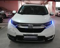 Светодиодный фары для Honda CRV C RV 2017 2019 Светодиодный Фонари двойные ксеноновые линзы автомобильные аксессуары дневные ходовые огни противоту