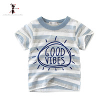 Kung Fu Ant 2019 New Summer Casual Boys T-shirt Cotton Short Sleeve O-neck Baby Clothes Car Baby T-shirt Clothes For 2T-8T Kids