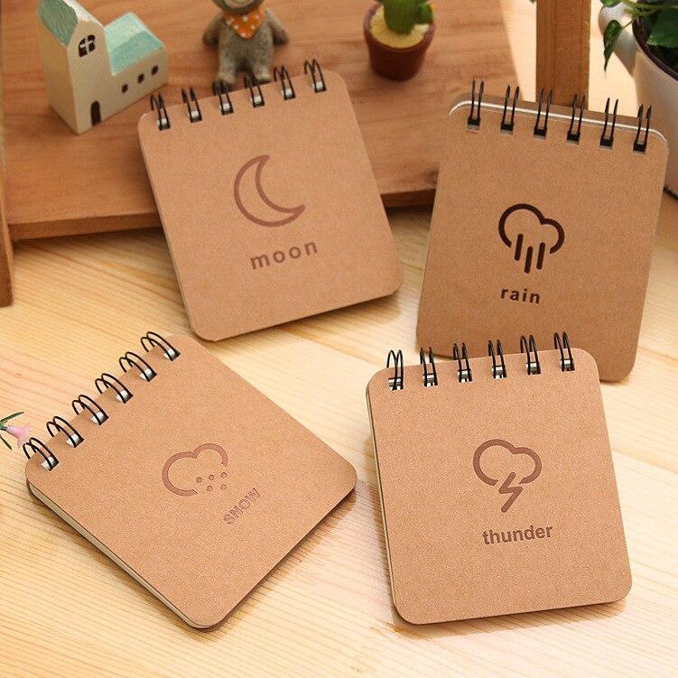 Korea Stationery Väderprognos Series Coil Book Bärbar - Block och anteckningsböcker - Foto 2