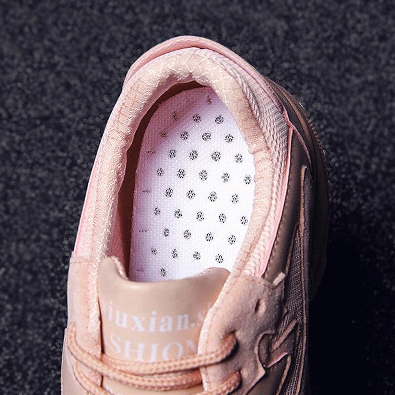 2019 Chunky Sneakers Fashion Women Vulcanize Shoes Women Sneakers Platform Women Shoes Lace Up Pink Female Mesh Tenis Feminino Multan