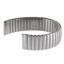 YISUYA 18 мм ремешок для часов металлический сменный Серебряный Браслет гибкий ремешок для часов из нержавеющей стали для мужчин и женщин Стильный