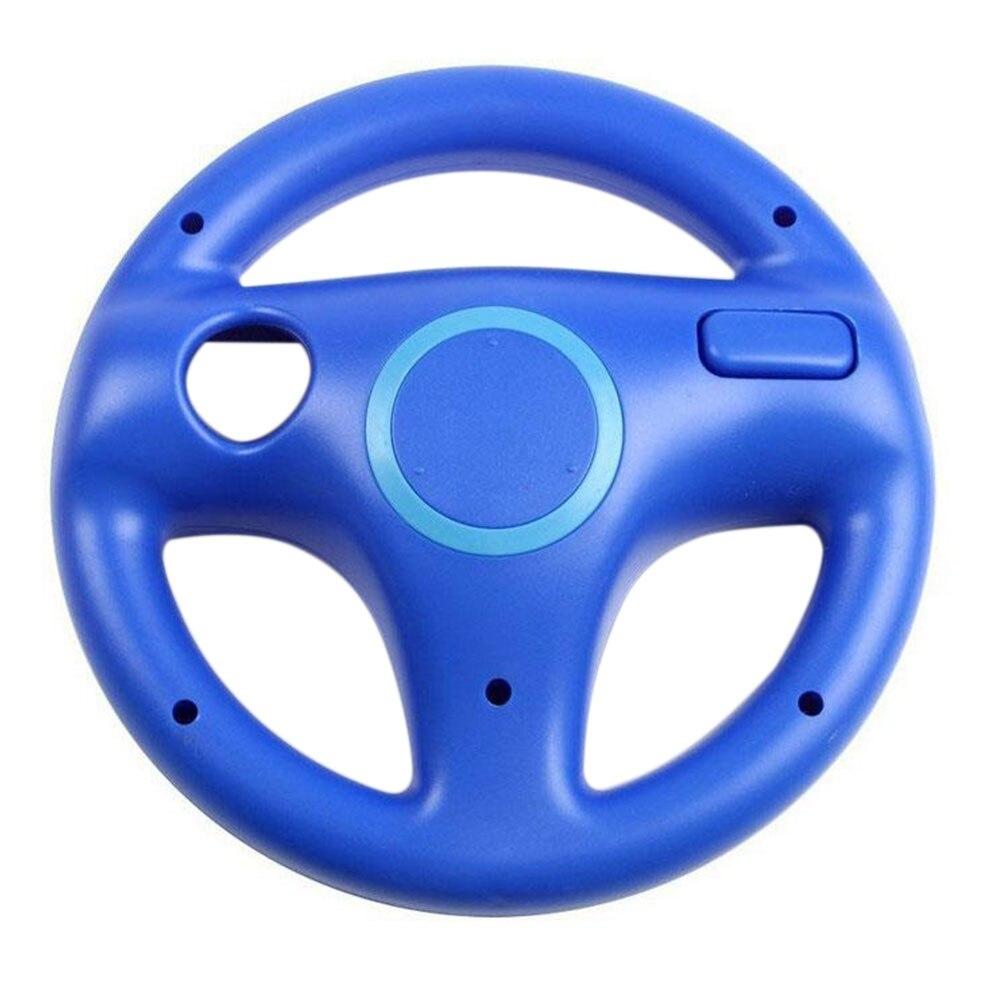 Подарок на Хэллоуин гоночная игра круглый руль пульт дистанционного управления для nintendo для wii - Цвет: Синий