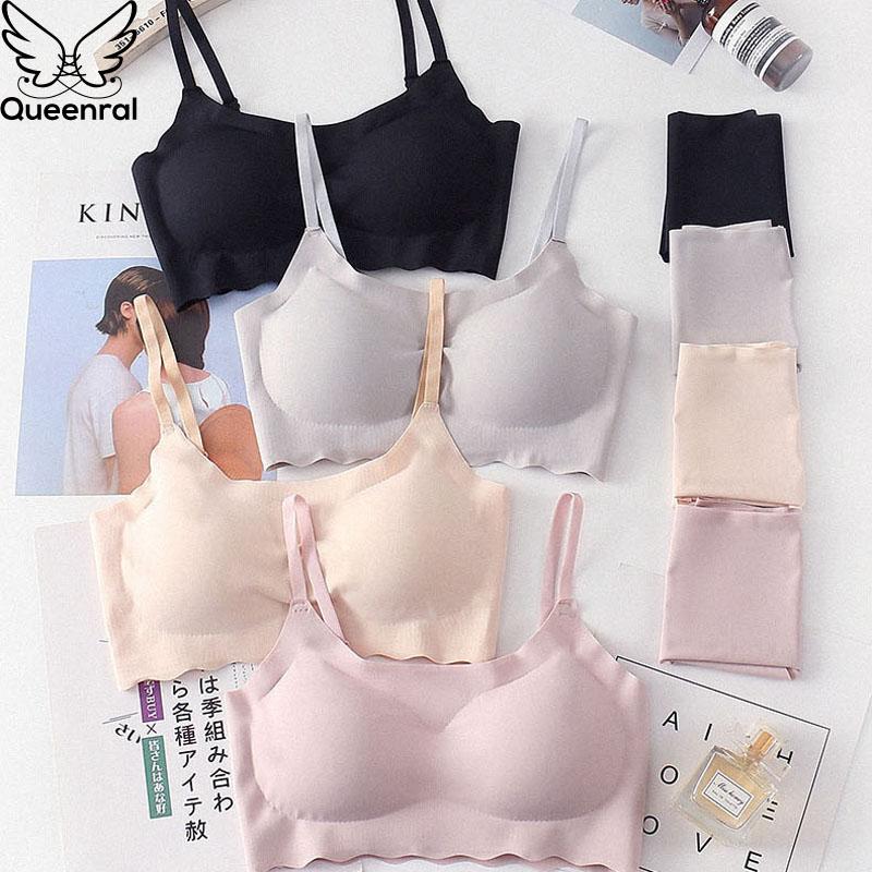 Queenral Seamless   Bra     Set   Everyday Women Underwear Lingerie   Set   High Quality Push Up   Bra   And Panty   Set   Female Underwear   Briefs